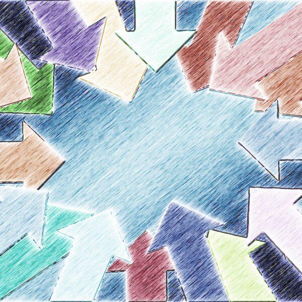 Pfeile Zentrum Innen Mittelpunkt Mitte Zentrieren - (c) Pixabay