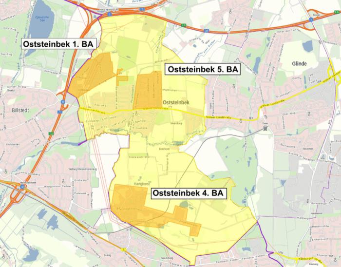 Glasfaserausbau Stand 03/2021 - Screenshot von Media Sachsenwald Webseite